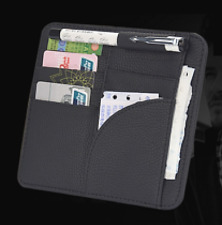 Auto Sun Visor Holder for Driver License, Registration, Insurance, C Cards Black