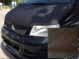 VW Transporter T5.1/T6 Bonnet Bra/Protector Stoneguard Full Cover (Black)