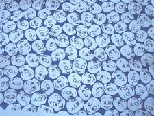 "Casper the Friendly Ghost Felt Back Quilting Fabric~Blue Background~ 48"" x 55"" +"