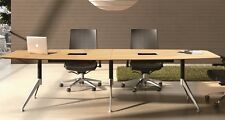 Potenza Boardroom Table Meeting Table 3000x1200 with Cable Tray Office Furniture
