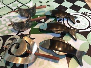 Haarspangen Sammlung Konvolut Holz Metall Fisch Silber NEU