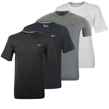 Nike Camiseta Hombre Swoosh Básico Blanco Camiseta Algodón Gris Azul Negro S-XXL