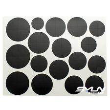 Matt Black Vinyl Overlay Hood Trunk Wheel Fender Decal Sticker for BMW Emblem