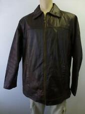 mens WILSONS M Julian thick brown lined LEATHER winter Jacket Coat sz Large