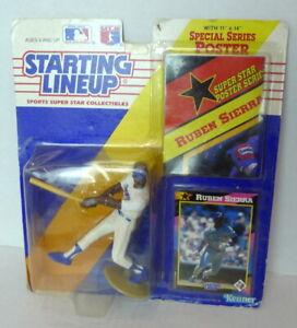 Kenner Starting Lineup Ruben Sierra Texas Rangers Poster & Trading Card  1992