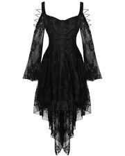 Dark In Love Gothic Lace Dress Black VTG Steampunk Victorian Witch Vampire