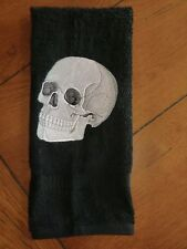 Embroidered Terry Hand Towel - Halloween - Skull