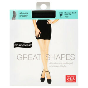 No Nonsense Great Shapes -Shaping Pantyhose, Size E, Midnight Black