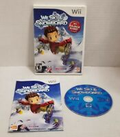 We Ski & And Snowboard (Nintendo Wii, 2008)  Complete Game w/Manual TESTED EUC