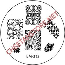 Stamping plaque Bundle Monster BM312 pour vernis ongles