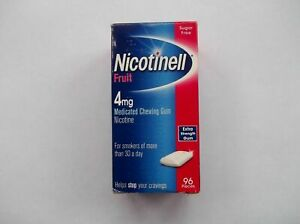 NICOTINELL FRUIT 4mg CHEWING GUM X 960 Pieces - FREE INTERNATIONAL SHIPPING