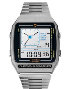 Anidigi Q Timex Reissue Digital LCA Stainless Steel Bracelet Silver Watch