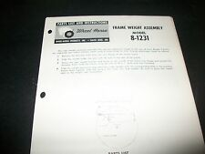 wheel horse, parts list & instructions FRAME WEIGHT ASSEMBLY  MODEL 8-1231