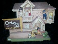 Century 21 Real Estate 1978 Chalkware Advertisement House SOLD Family Pet Dog