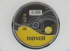 1x10 MAXELL CD-R 80XL WriteOnce 1x52x 700MB Cakebox 624027 NEU (world*) 003-981