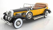 Premium Classixxs 1932 Duesenberg SJ Tourster Derham w/Softtop Yellow/Blk 1:12*
