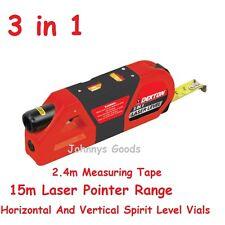 Laser Level And Measure 3 In 1 Spirit Level Laser Pointer Tape Measure Dekton