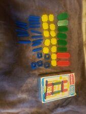 Vintage Playskool Bristle Blocks 816 Plastic Set Building Blocks 39pcs complete