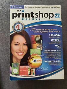 The Print Shop Deluxe Version 22 (4 CD Set + Manual) Windows XP/2000