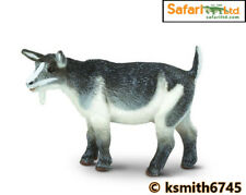 Safari PYGMY NANNY GOAT solid plastic toy farm pet grey & white animal * NEW *💥