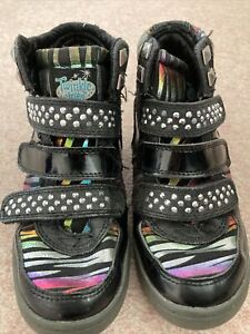 Skechers Twinkle toes Wedge, Embellished Ankle Boots Size 12.5 EUR 31