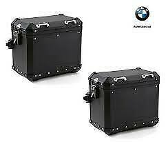 BMW Motorrad Black Adventure Aluminum Luggage Case / Pannier Set With Locks