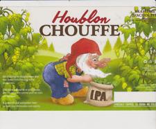 Br. MOORTGAT / LA HOUBLON CHOUFFE   - STICKER ETIKET - LABEL 22,5 cm x 14,2cm