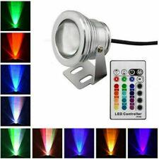 RGB 10W LED Unterwasserbeleuchtung AC DC 12V Wasserdicht Strahler Fluter Lampe