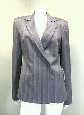 United Colors Of Benetton Gray Pinstriped Tweed Jacket/Blazer Retail $176.~Sz 46