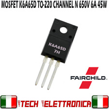 TK6A65D K6A65D K6A65 Transistor Mosfet N-Channel 650V 6A 45W TO220