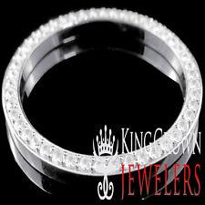 10K Real White Gold Over Pure Silver Rolex Watch Custom Bezel 30mm Diamond Case