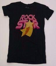 Rock Star Goodie Two Sleeves T-shirt Womens M Black 100% Cotton USA