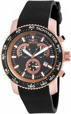 Invicta 17775 Specialty Men's Chronograph 45mm Rose Gold-Tone Black Dial Watch
