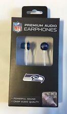 Seattle Seahawks iHip Premium Audio Earphones Earbuds - iPhone iPod NEW