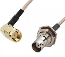1 FT. RF pigtail cable RP-SMA male right angle to BNC female RG316 30cm USA