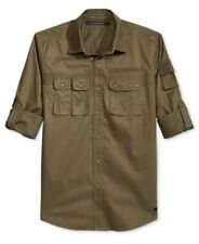 Sean John Mens Flight Shirt Roll Tab Grapeleaf Mens Size Large New