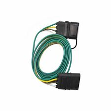 1Qty 12V 4-Way Flat RV Tow Bar Electrical Trailer Socket/Plug Extension Wiring5'