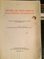 Michel de Ghelderode et le theatre contemporain. Actes du congres de Genes
