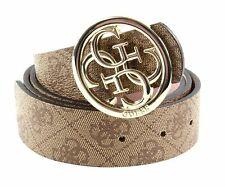 GUESS Candace Reversible Pant Belt W85 Gürtel Accessoire Brown Braun Beige Neu