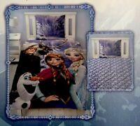Single Twin Disney Frozen Elsa Anna Girls Duvet Quilt Cover Bedding Set 2Pcs