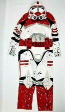 Disney Star Wars Storm Trooper Costume Youth Child Large 12-14 Boys Girls Red
