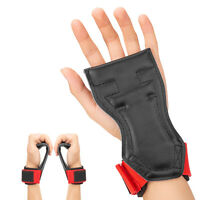 Weight Lifting Gloves Fitness Hook Training Gym Grips Straps Wrist Support Band