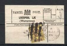 EDWARD VII 3d USED ON PARCEL POST LABEL (LIVERPOOL, WAVERTREE)
