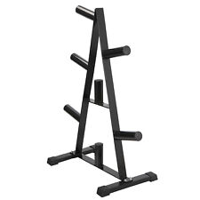 "Fitness Olympic 2"" Weight Plate Rack Tree&Barbell Holder Organizer Stand Storage"