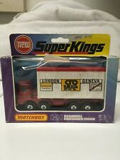 MATCHBOX LESNEY SUPERKINGS K-24 SCAMMELL CONTAINER TRUCK RED/WHITE ENGLAND