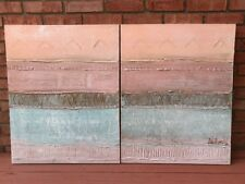 """Lee Reynolds Vanguard Studios Signed Painting Duo Textured Oil Canvas 24"""" x 30"""""""