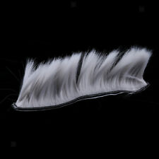 Motorcycle Adhesive Helmet Mohawk Hair Patches Skinhead Costumes Wig - Grey
