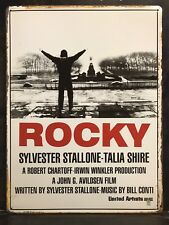 ROCKY Classic Movie Poster Wall Decor Garage Metal Sign 30x40 Cm Boxer