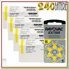 batterie per apparecchi acustici 10 rayovac extra 240 pile per protesi
