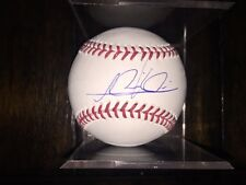 Lewis Brinson Autograph Signed Rawlings Baseball With Cube Miami Marlins